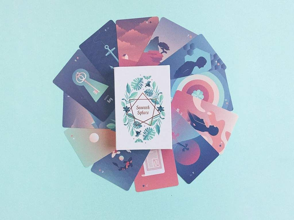 A Modern Lenormand Deck Featuring Rose Gold Detailing And Bright Colorful Full Bleed Illustrations P Empress Tarot Card Playing Cards Design Hand Illustration