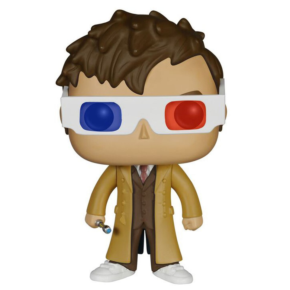 Doctor Who 10th Doctor 3d Specs Limited Edition Pop Vinyl Figure Vinyl Figures Pop Vinyl Figures Doctor Who