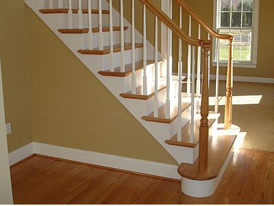 Superior I Should Paint My Stairs Like This   White Trim, Stair Risers And Spindles,