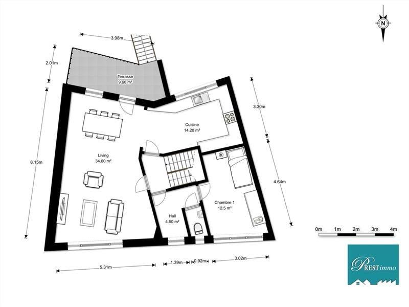 Marcinelle - Gros oeuvre fermé 210m² nets, 4 ch, gar 2 voit, 2,8a