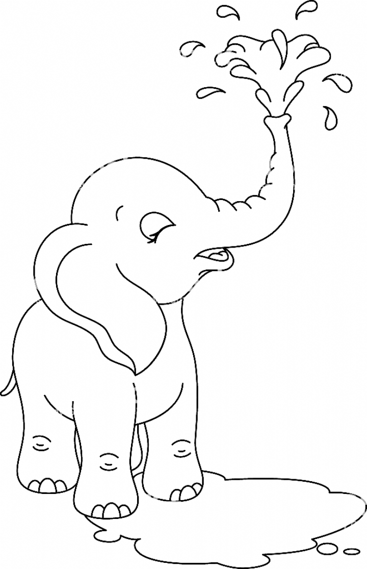 Baby Elephant Coloring Page Royalty Free Baby Elephant Coloring Page Stock Vector Art More Images Of 2015 In 2020 Elephant Coloring Page Elephant Drawing Easy Elephant Drawing