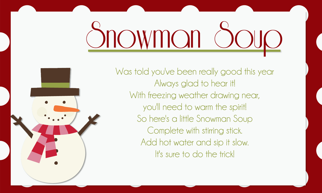 Snowman Soup Hot Chocolate Recipe And Gift Idea Snowman Soup Snowman Soup Printables Snowman Soup Poem