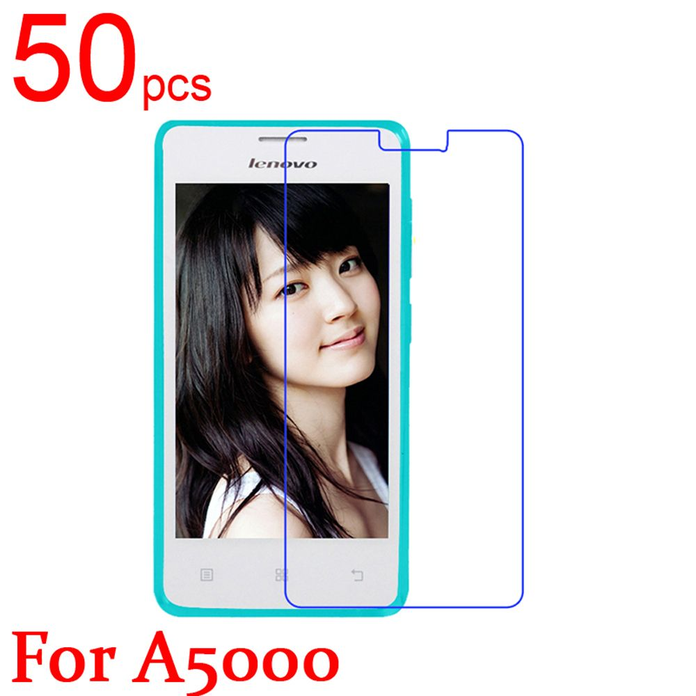 50pcs glossy Ultra Clear/Matte/Nano anti-Explosion LCD Screen Protector Film Cover For Lenovo A5000 A6000 A7000 A3800 A2010 Film