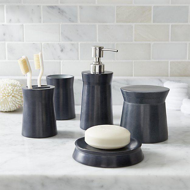 Forma Soapstone Bath Accessories Crate And Barrel