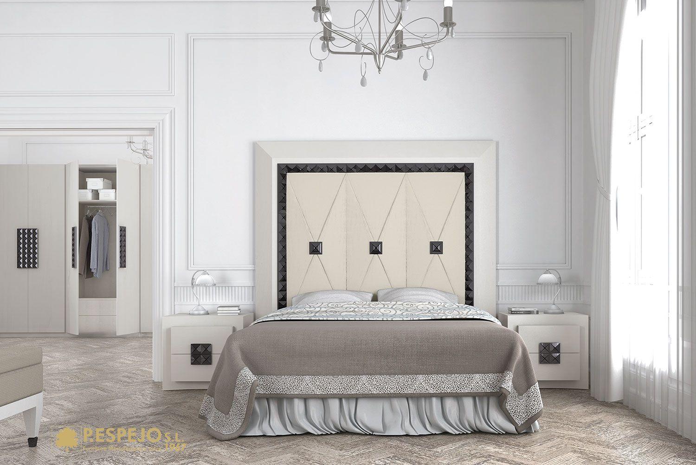 Dormitorio Curve en acabado blanco, detalles y tiradores en alto ...