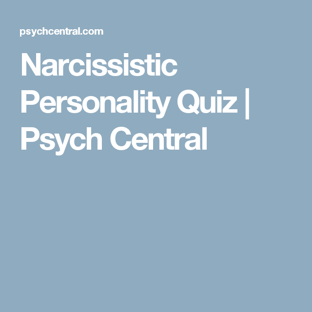 Psych central narcissistic personality disorder
