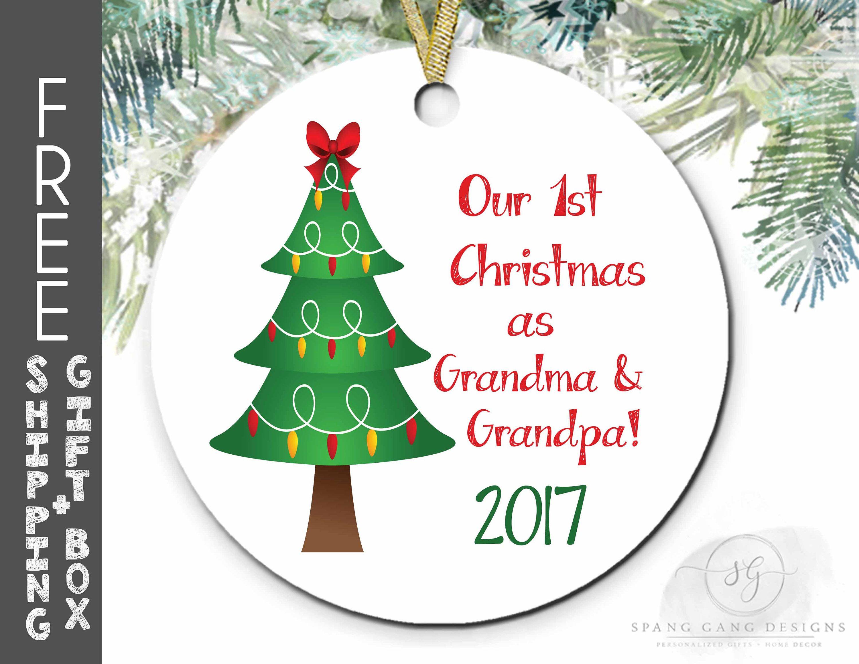 1st Christmas as Grandma & Grandpa | Grandparents First Christmas ...