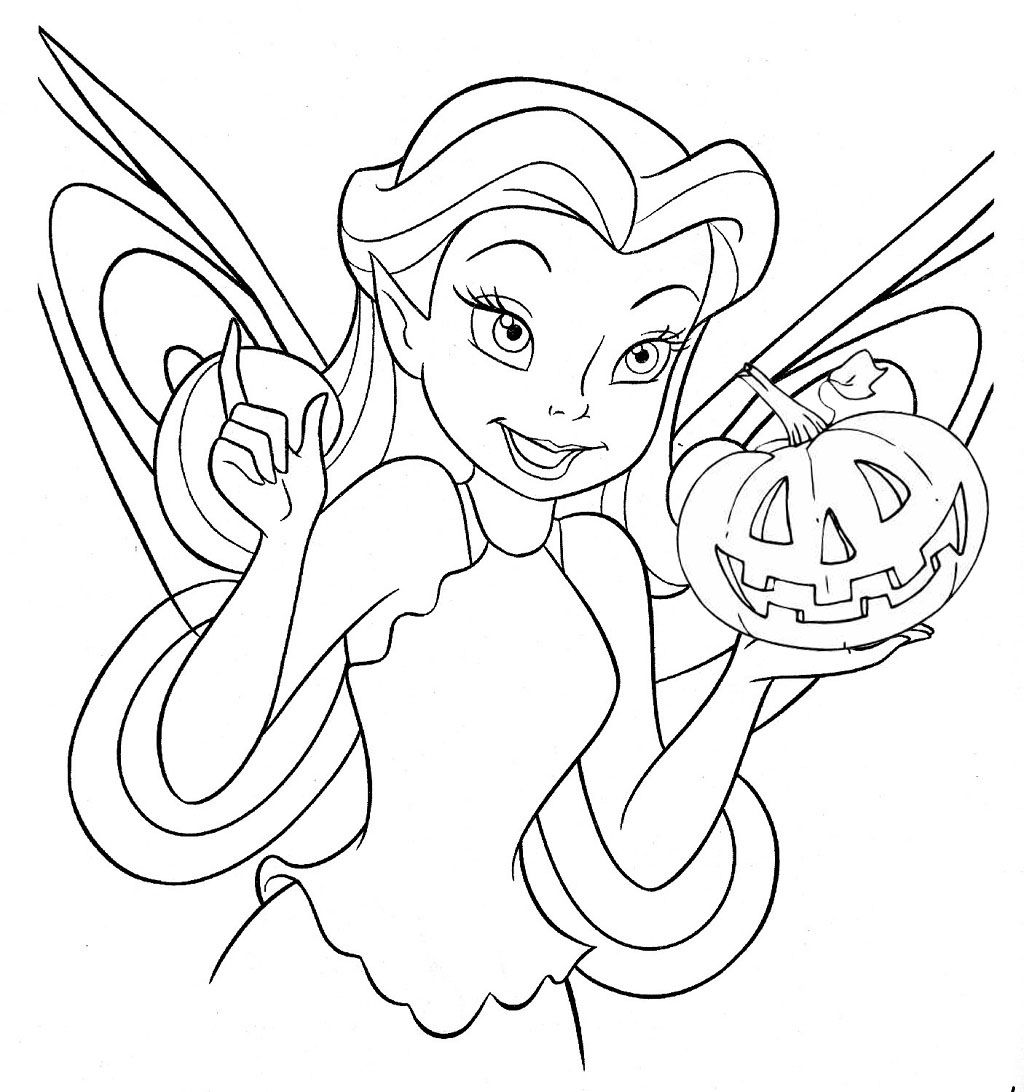 Free Disney Halloween Coloring Pages Tinkerbell Coloring Pages