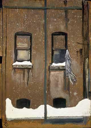 Rag in Window by Alice Neel, 1959, Oil on Panel, 33 x 24 inches / 83.8 x 61 cm | Phildelphia Museum of Art, Gift of the Estate of Arthur M. Bullowa