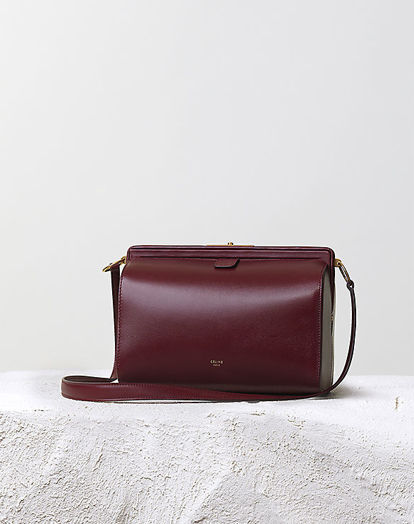 b492c0d77e Céline Pre-Fall 2014 burgundy mini doc messenger bag