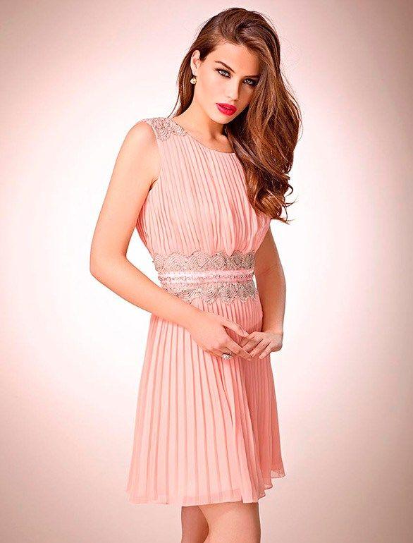 Vestido rosa corto con que zapatos