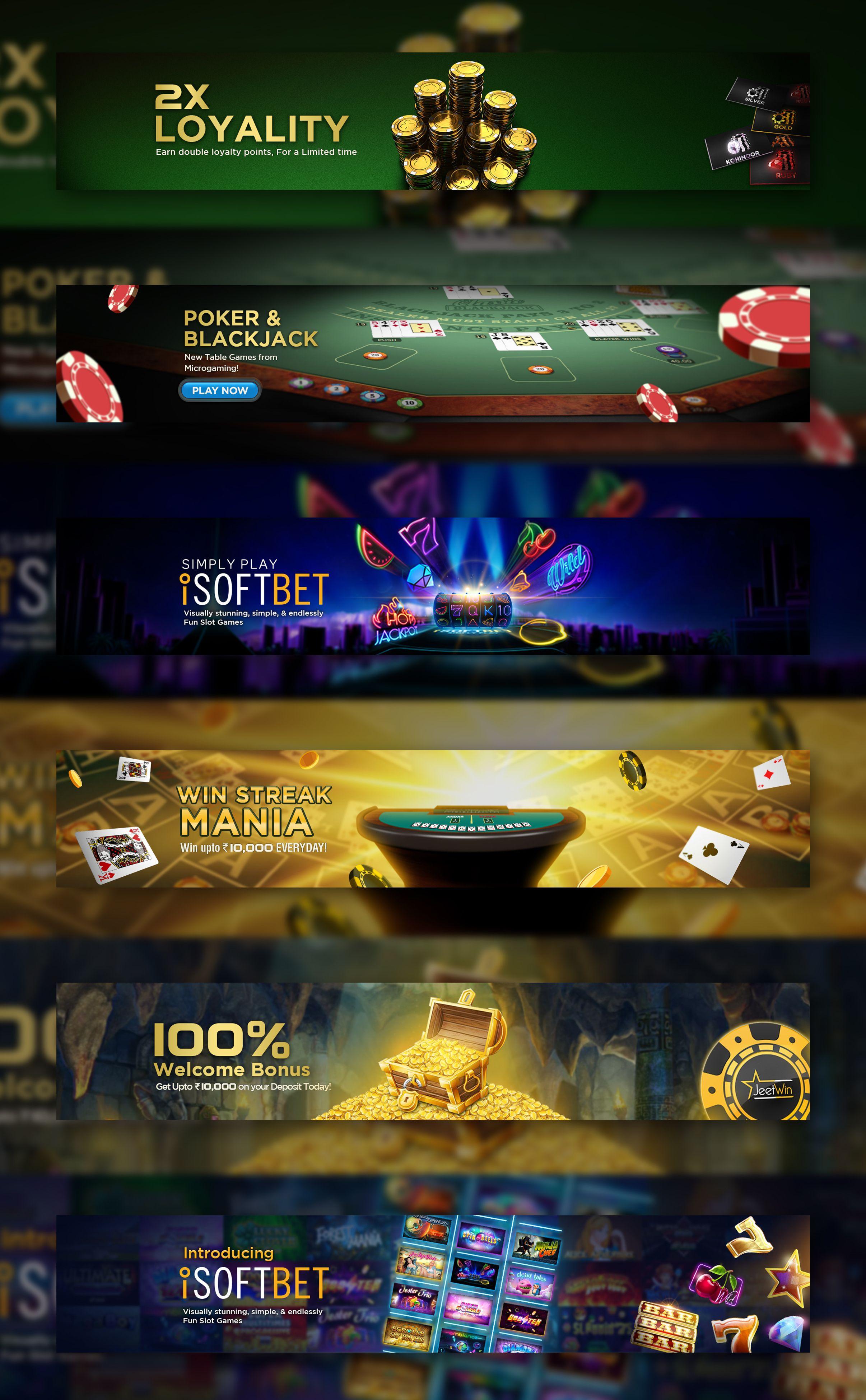 Casino banner gaming banner web banner design banner