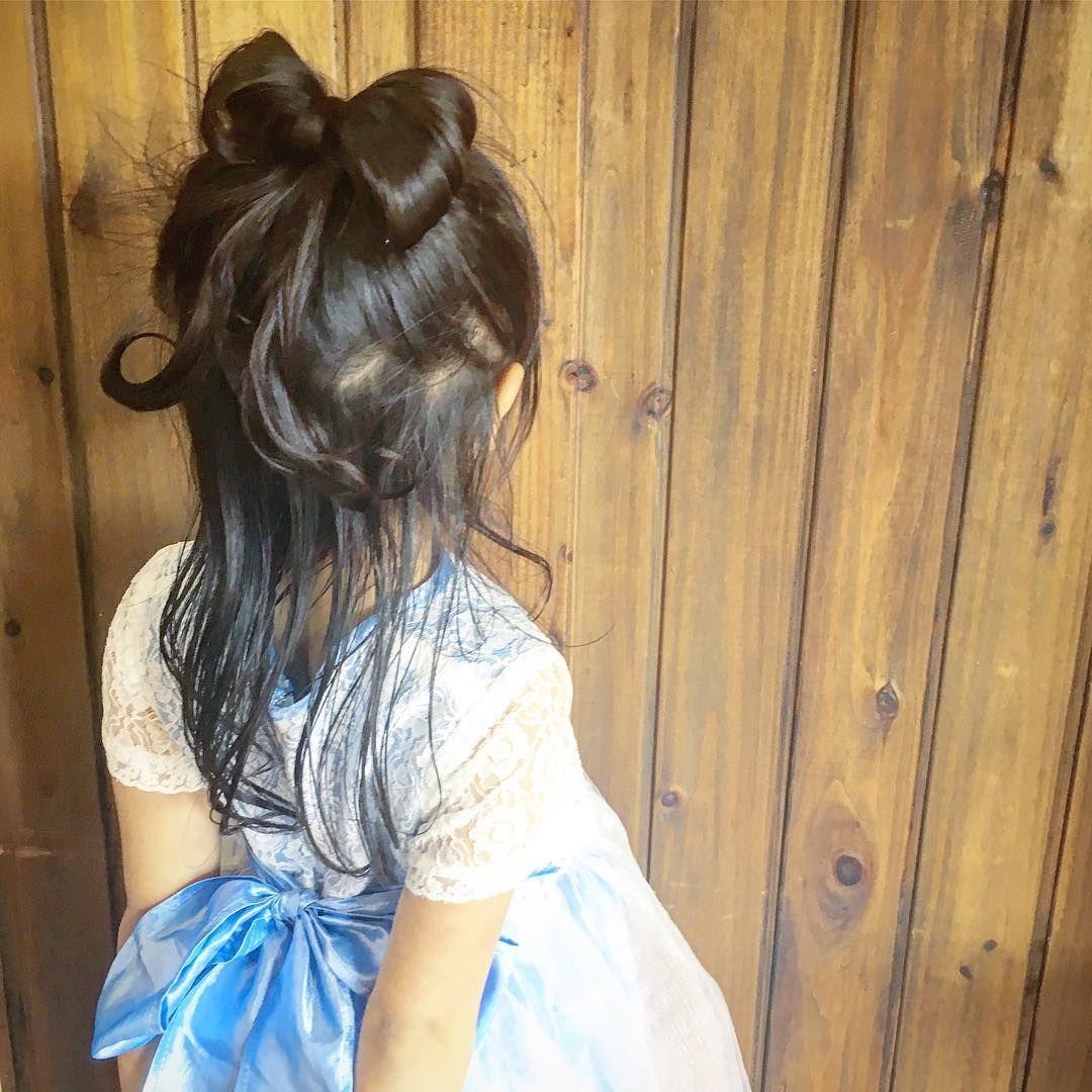 ゴムだけでも作れるツインまとめ髪ヘアアレンジ 簡単ヘア 子供