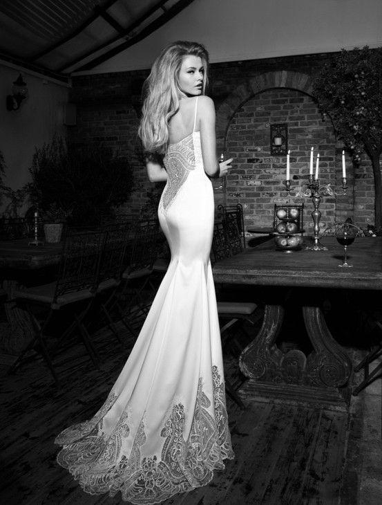 Galia Lahav\'s Marilyn - Slender mermaid dress, silk satin ...