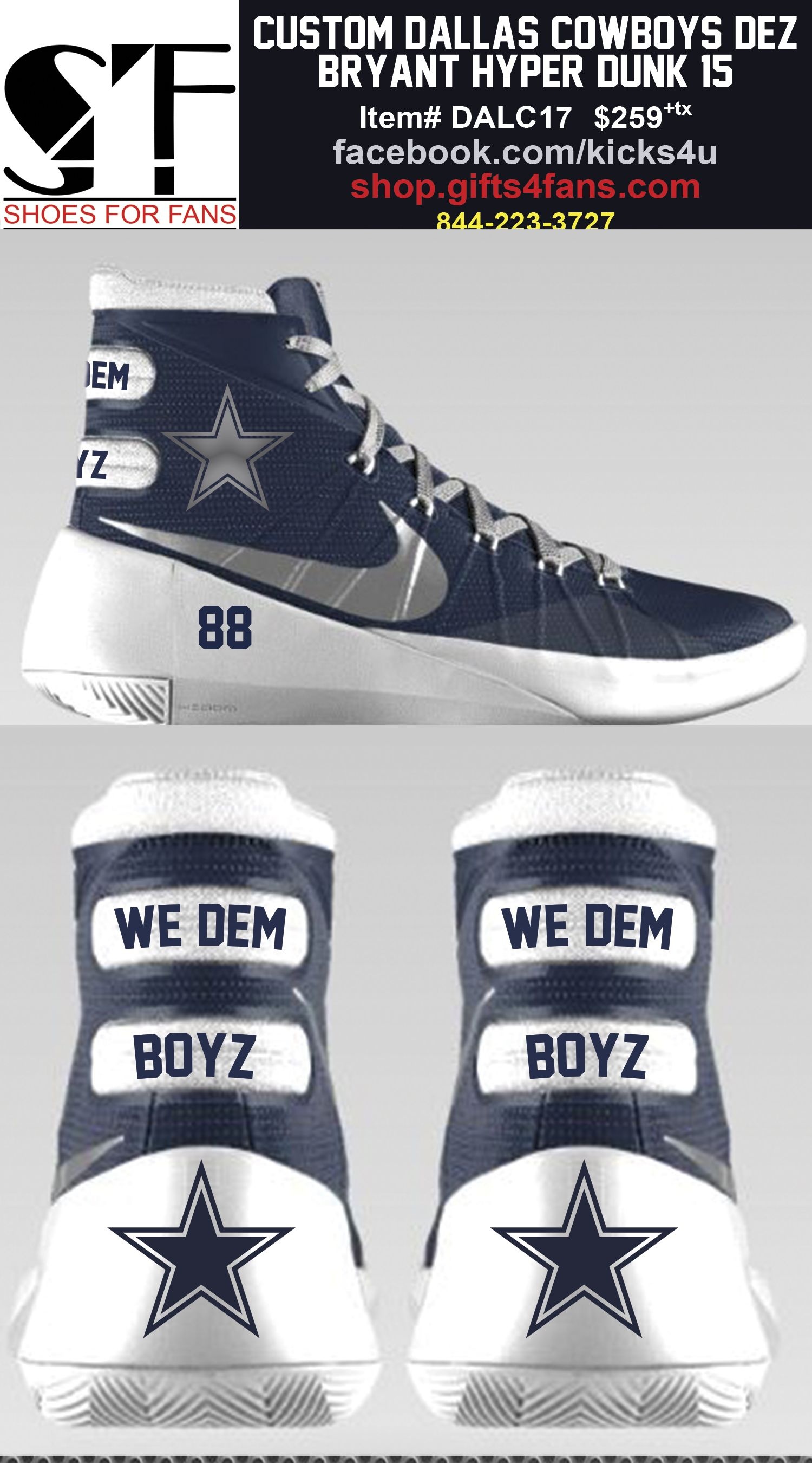 Pin by Shoes4Fans on Dallas Cowboys Footwear