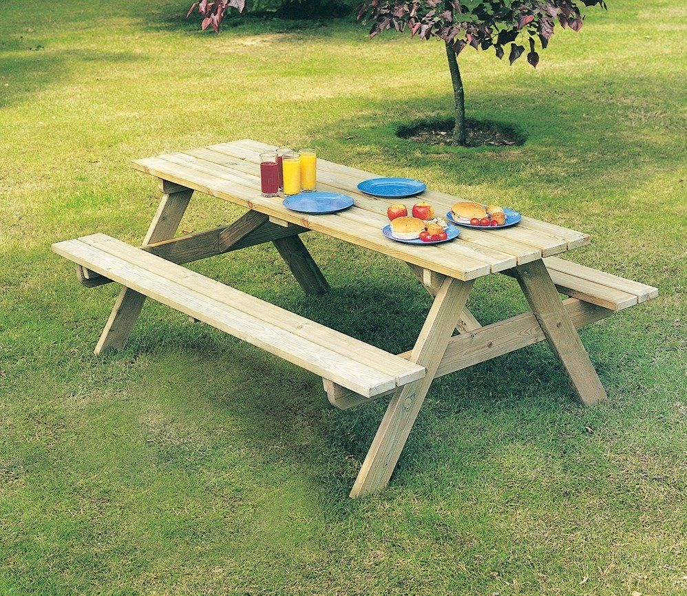 Alexander Rose Pine Woburn 5ft Picnic Table Garden Furniture Picnic Table Kids Picnic Table Table
