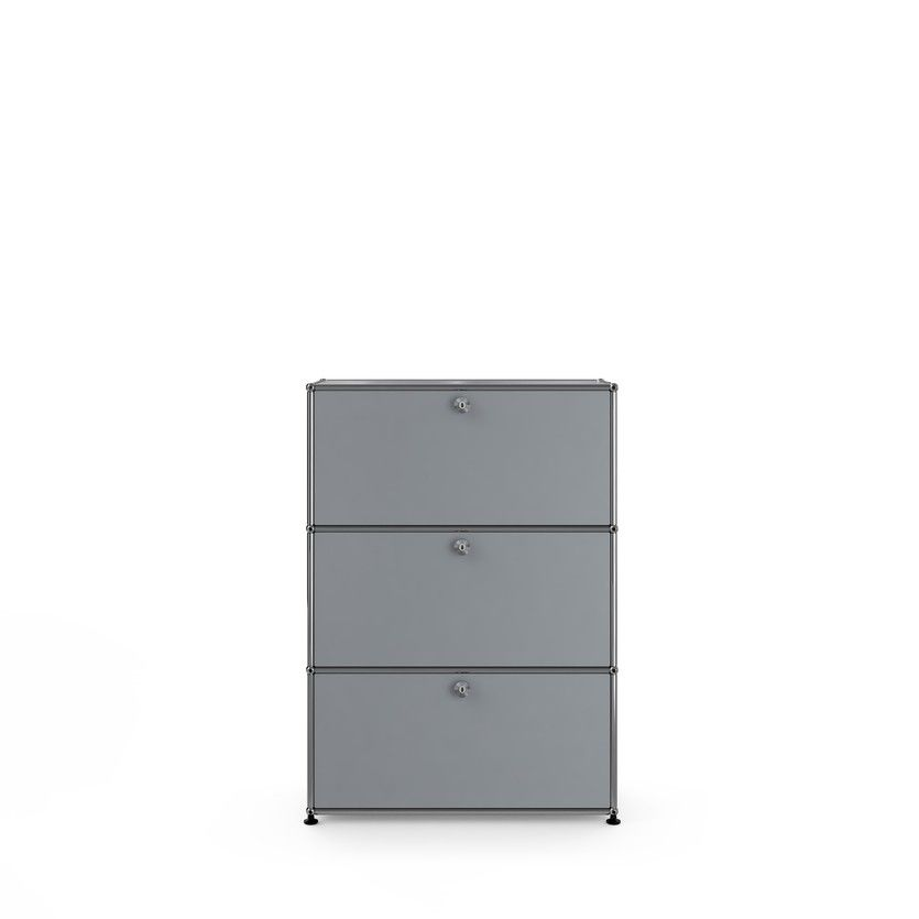 USM Haller Rendering storage  matte silver,  USM Haller dresser, USM Haller bedroom furniture, USM colors