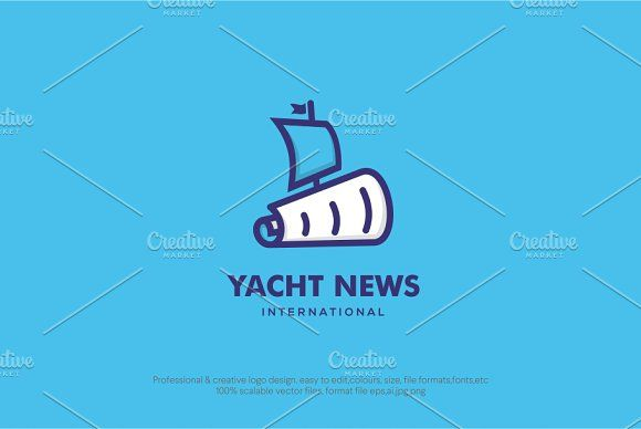 Yacht news logo template | Logo templates, Template and Logos