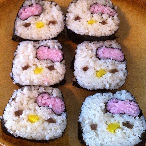 Sushi de hello kitty sushi hello kitty y comida de - Cocinar sushi facil ...