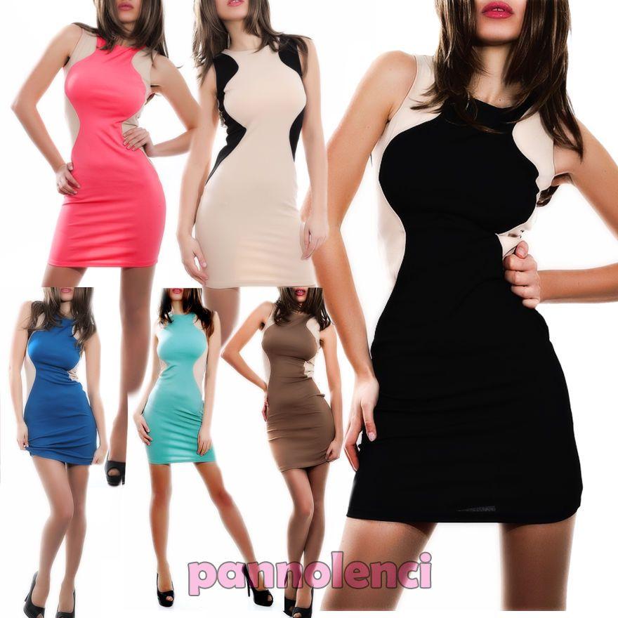 Miniabito tubino silhouette vestitino donna party vestito dress kleid 72091