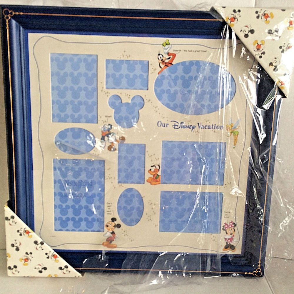Disney Parks OUR VACATION Mickey Multi Collage Photo Picture Frame ...