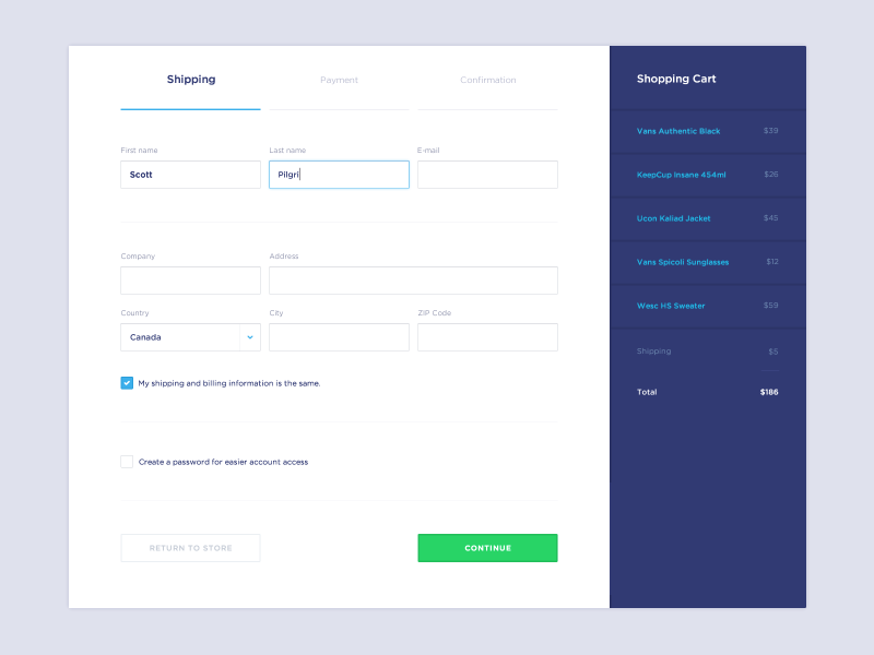 My Fonts Payment Form  Fonts Ui Ux And Ui Design