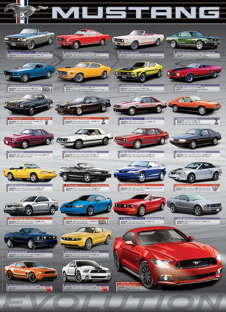 Ford mustang evolution 1000 piece puzzle now you can assemble the pieces of automotive history with this beautiful and authoritative jigsaw puzzle