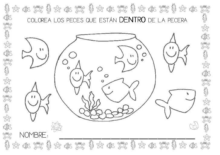 Proyecto Los Peces Ocean Animals Coloring Pages School Worksheets