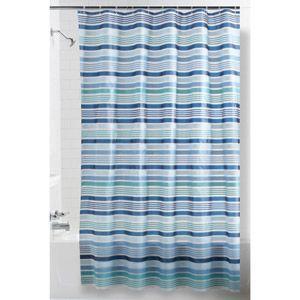 Mainstays Blue Stripe PEVA Shower Curtain