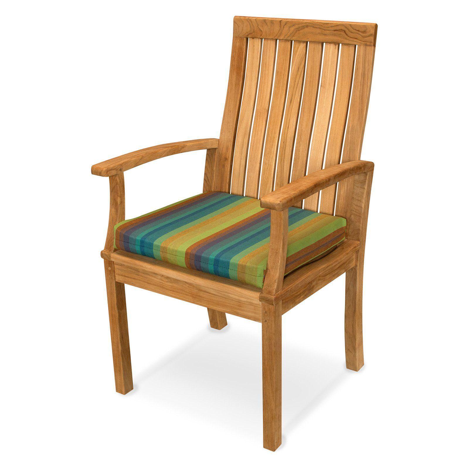 Ateeva Sunbrella Striped 18 X 19 In Outdoor Rocker Seat Cushion From Hayneedle