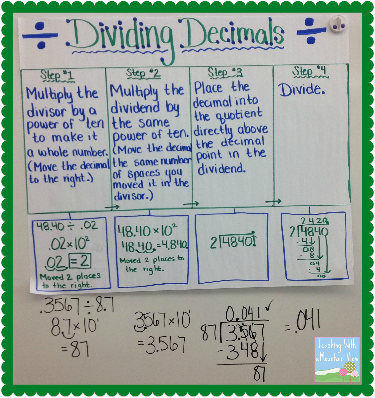 Worksheet How To Divide Decimals By Hand 1000 images about decimals on pinterest dividing studying and 5th grades