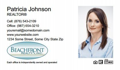 Beachfront Realty Business Cards Bri Bc 009 With Photo