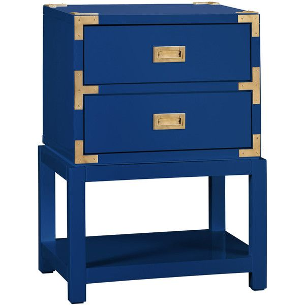 Bungalow 5 Tansu 2 Drawer Navy Side Table Navy Blue Furniture Boys Bedroom Furniture Campaign Furniture