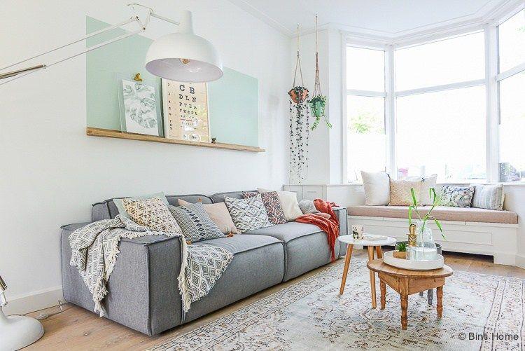 grey sofa styling tips interieurontwerp Jaren 30 woning Woonkamer ...