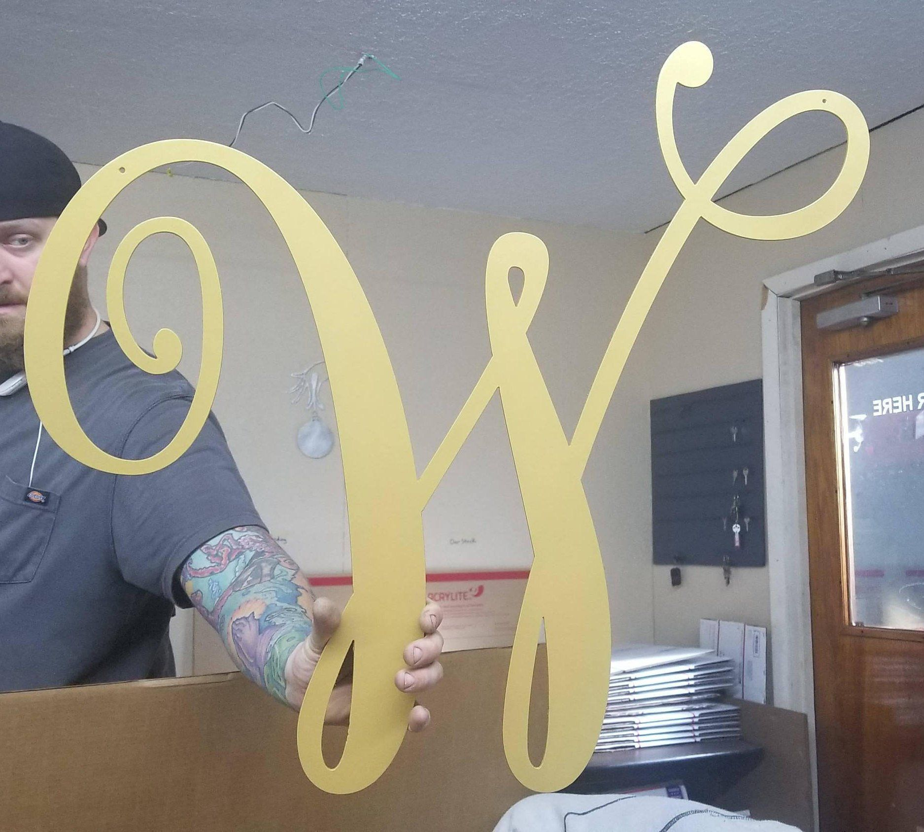 24 Metal Letters Large Letters Wall Decor Initials Etsy Letter