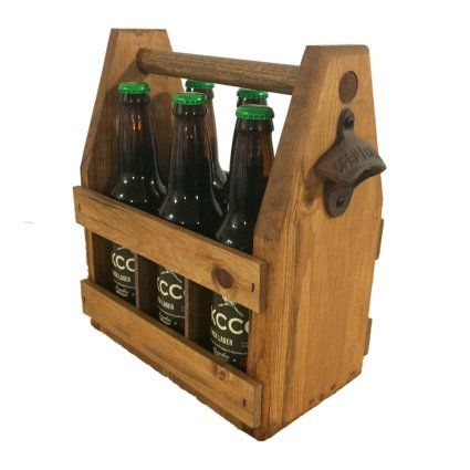 A Handcrafted Wooden Beer Carrier Is How Dad Rolls Wood Six Pack Beer Holder In Vintage Barn Wood Beer Gifts Da Wooden Beer Caddy Beer Carrier Wooden Gifts