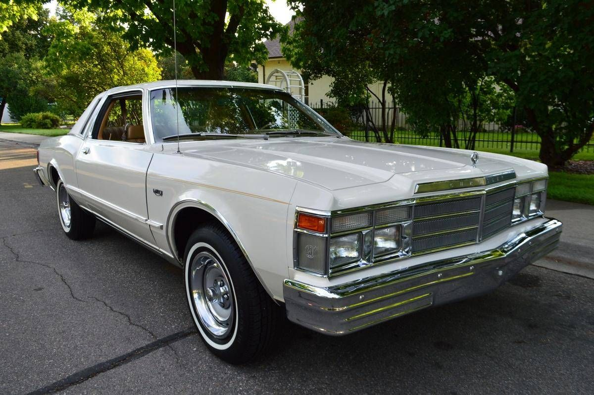 1979 Chrysler Lebaron Salon 2 Door Pillared Hardtop For Sale