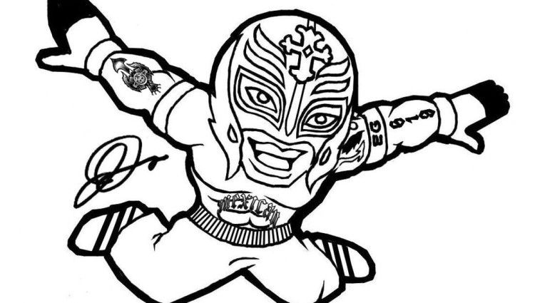 Wwe Coloring Pages Rey Mysterio Wwe Coloring Pages Coloring