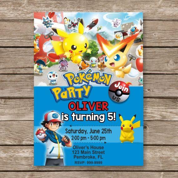 Pokemon Pokemon Invitation Pokemon Birthday Invite Ash Pokemon Pikachu Invite Anime In Pokemon Invitations Pokemon Birthday Invites Pokemon Birthday Party