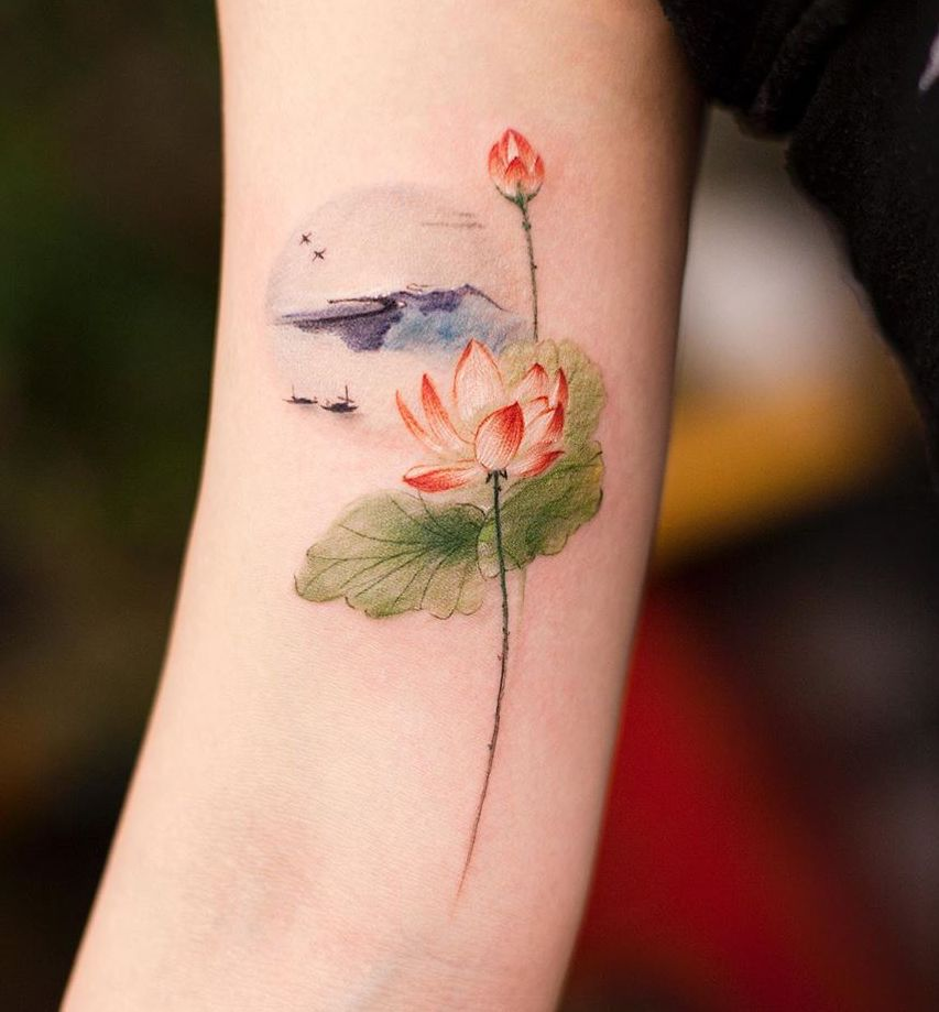 26 Lotus Flower Tattoo Designs and Meanings Peaceful