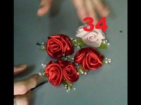 Aula 34 Arranjos De Rosas Rococo Diy Flores De Tecido Flores