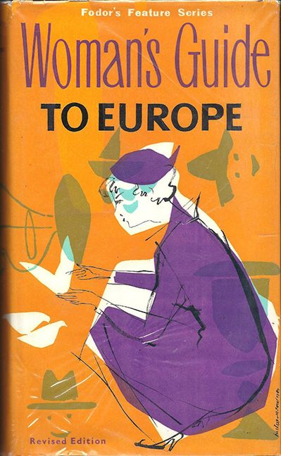 woman's guide to Europe, vintage, book, cover, illustration