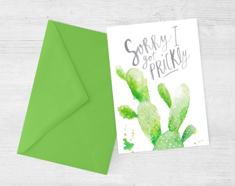 Sorry I got Prickly Printable Apology Card – Free Printable Apology Cards