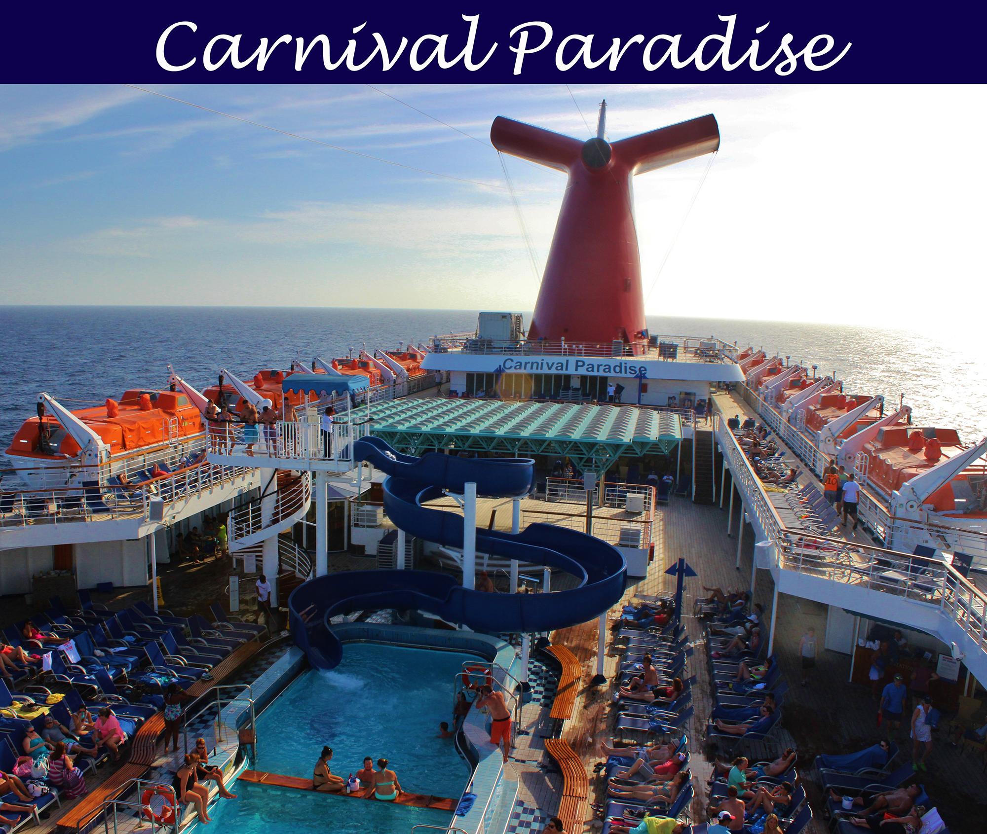 Carnival cruise paradise wedding