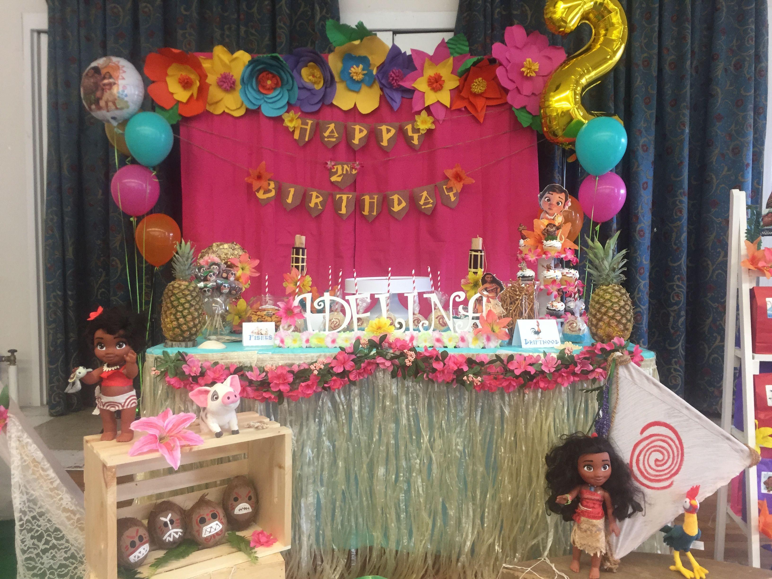 Moana Birthday Party Ideas Cake Table Birthday Party