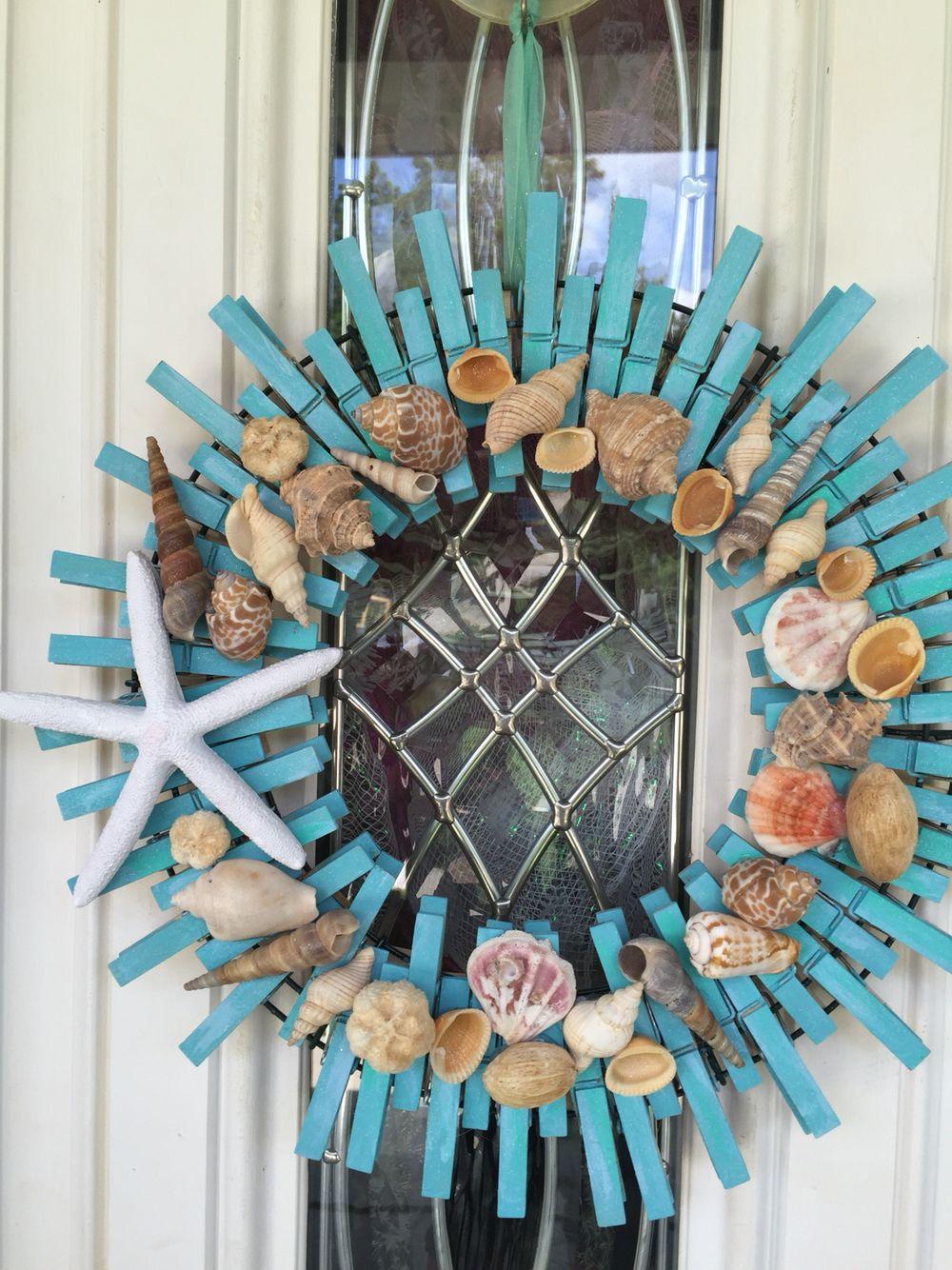 Beach Clothespin Wreath Plaj El Sanatlari Kendin Yap Elisi