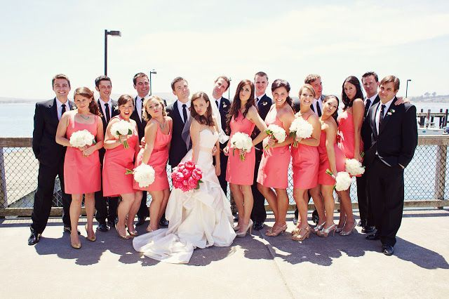 Coral And Black Wedding Party 83ccaf30052cf80187b6566970e4d2 ...