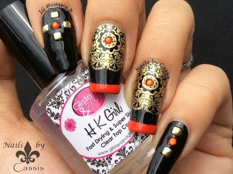Oriental ornament stamping nail art by cassis p httpswww oriental ornament stamping nail art by cassis p httpsyoutube prinsesfo Gallery