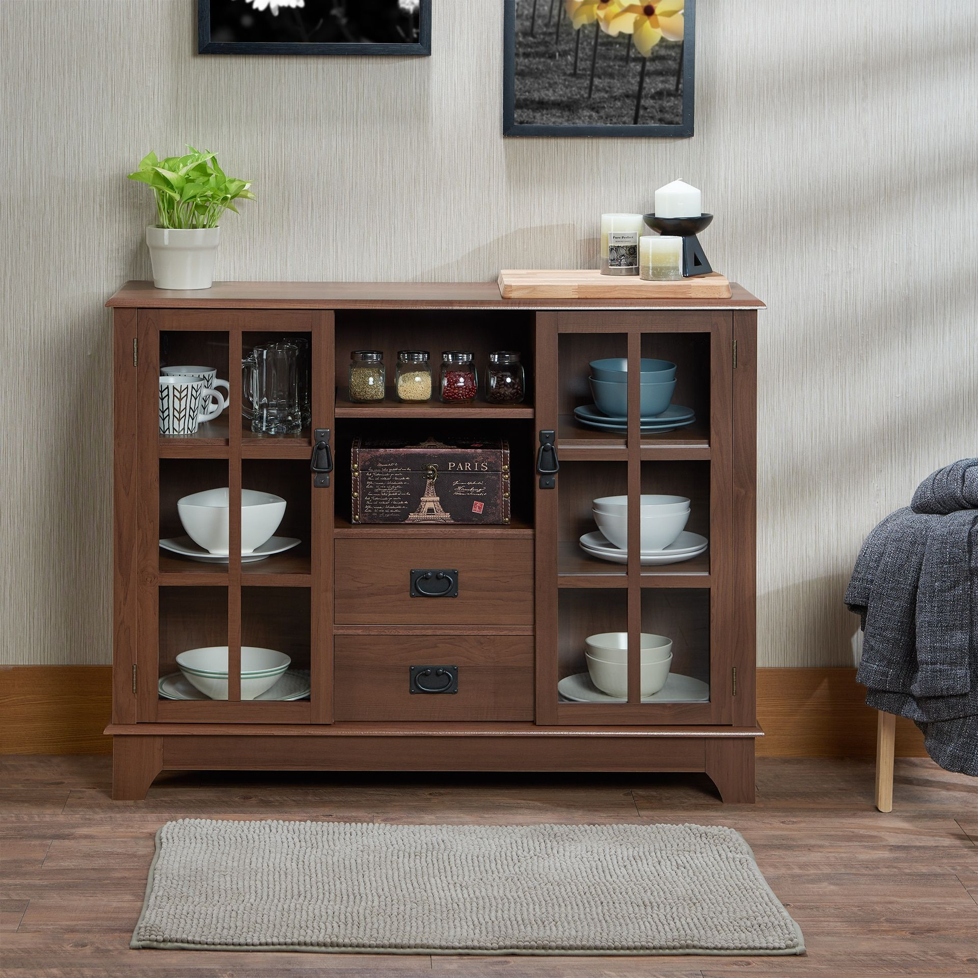Acme Furniture Dubbs Brown MDF/Glass/Plastic Storage ...