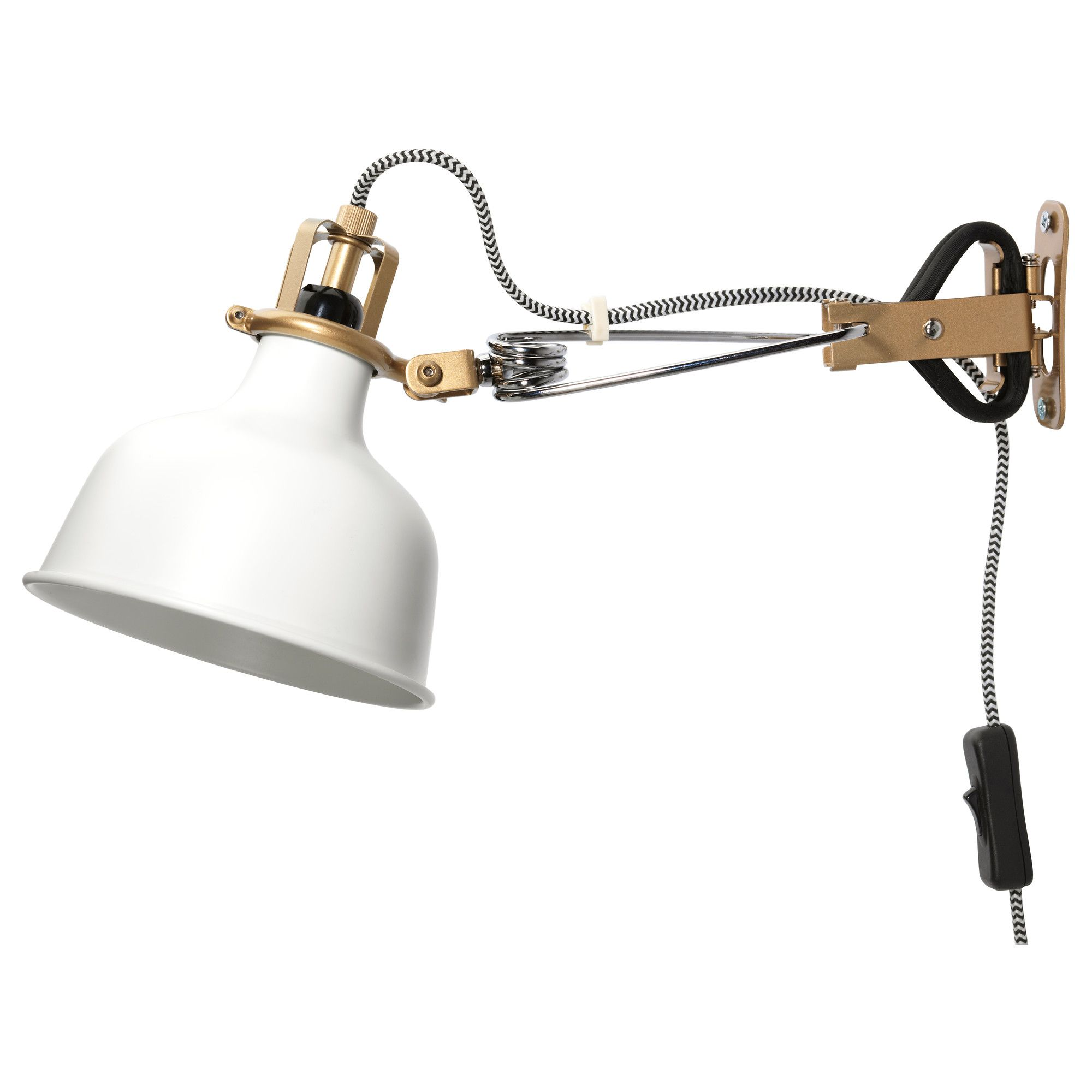 Ikea Ranarp Spot Mural Tablette Blanc Cassé Lumière